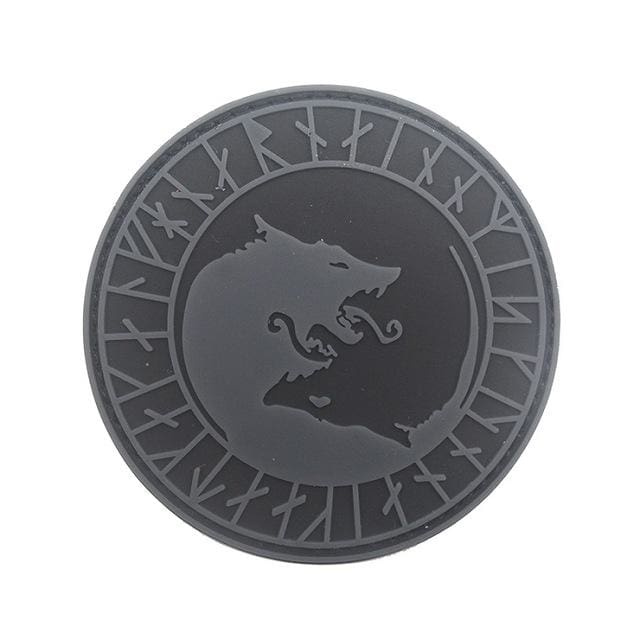 Norse Fenrir Pvc Patches - Gray Not Glow - Patches Patches Pvc