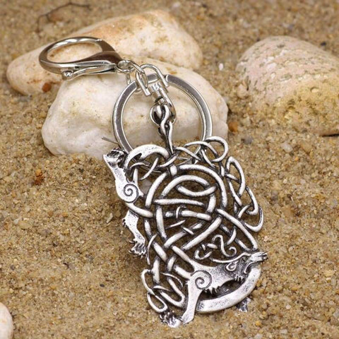 Image of Norse Wolf Keychain - Keychain Vikings