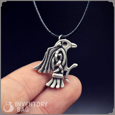 Image of Odin Raven Pendant - Pendant Necklaces Jewelry Necklace Vikings