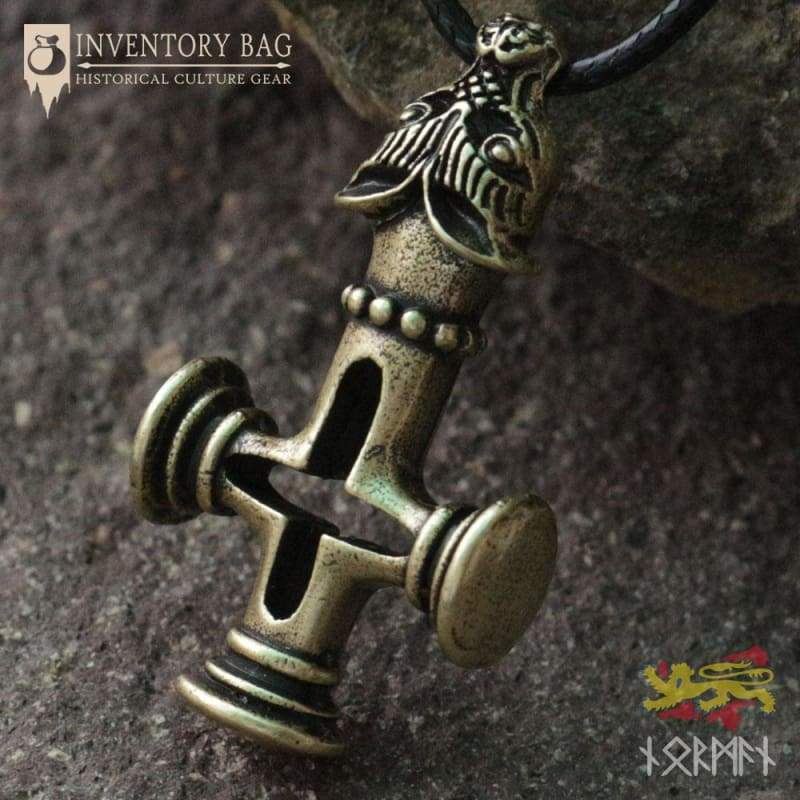 Olaf Wolf Cross Mjolnir - Viking Necklace Jewelry Necklace Vikings