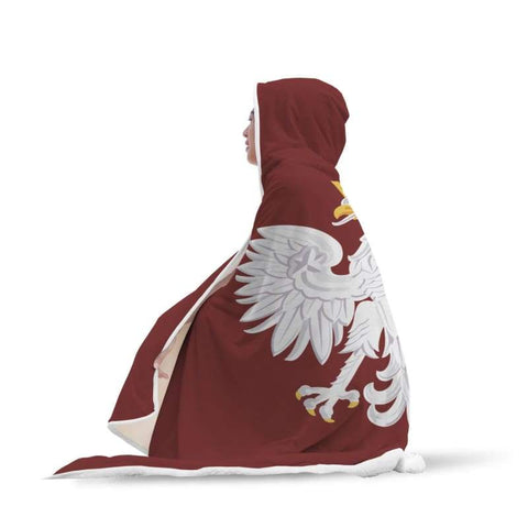 Poland Hooded Blanket - Hooded Blanket Blankets Hooded Blankets Poland