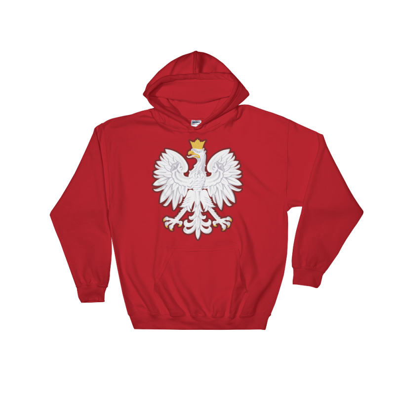 Polish Coat Of Arms Hoodie - S - Apparel Hoodies Poland