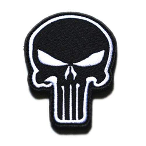 Punisher Badge - Black White - Patches Patches
