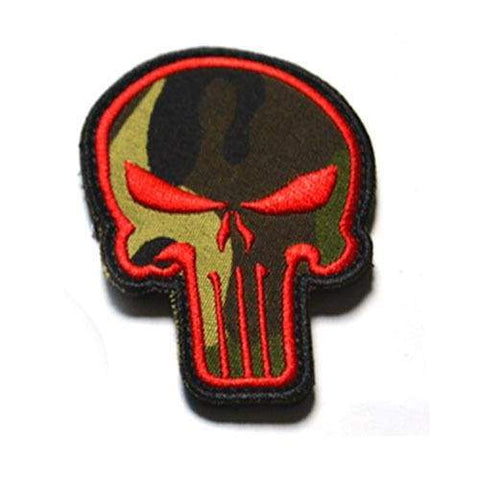 Punisher Badge - Red Camouflage - Patches Patches
