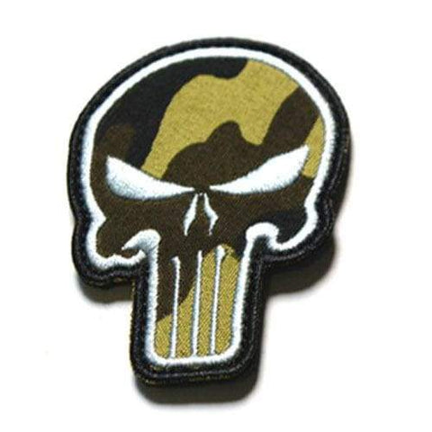 Punisher Badge - White Camouflage - Patches Patches