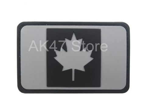 Pvc Flag Patches - Pvc Canada Gray - Patches Patches Pvc