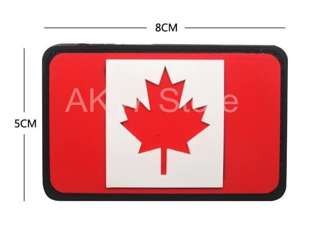 Pvc Flag Patches - Pvc Canada Red - Patches Patches Pvc