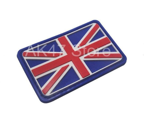 Image of Pvc Flag Patches - Pvc Uk Blue - Patches Patches Pvc