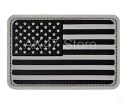 Image of Pvc Flag Patches - Pvc Usa Gray - Patches Patches Pvc