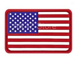 Image of Pvc Flag Patches - Pvc Usa Red - Patches Patches Pvc