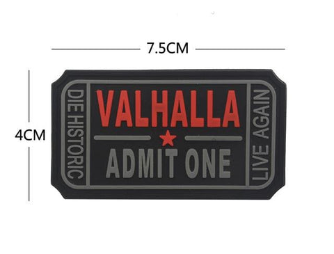 Image of Pvc Ticket To Valhalla Tactical Vikings Patch - Black - Patches Patches Vikings