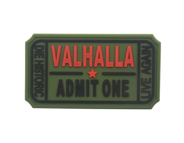 Pvc Ticket To Valhalla Tactical Vikings Patch - Green - Patches Patches Vikings