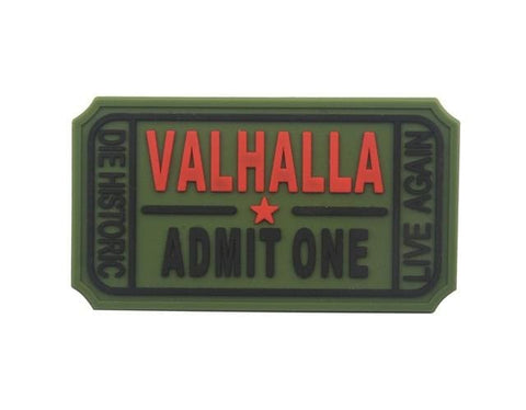 Image of Pvc Ticket To Valhalla Tactical Vikings Patch - Green - Patches Patches Vikings