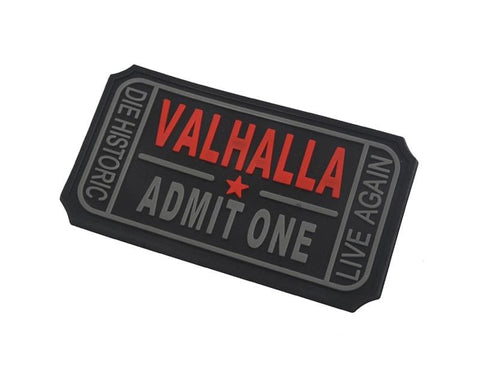Image of Pvc Ticket To Valhalla Tactical Vikings Patch - Patches Patches Vikings