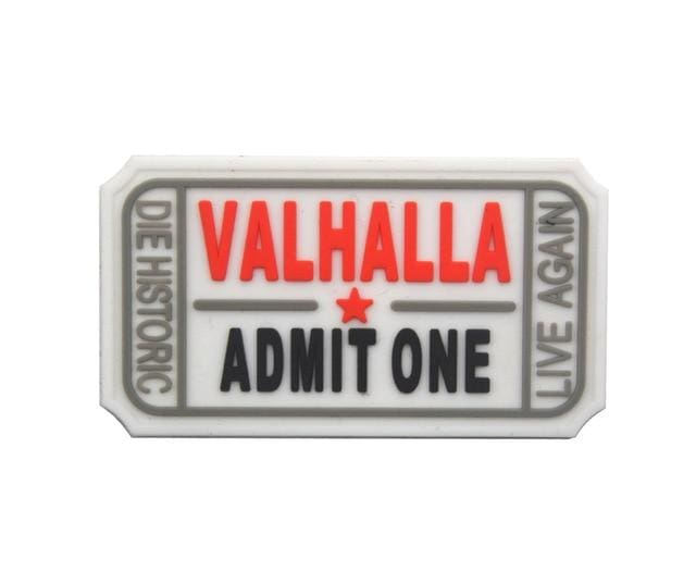 Pvc Ticket To Valhalla Tactical Vikings Patch - White - Patches Patches Vikings