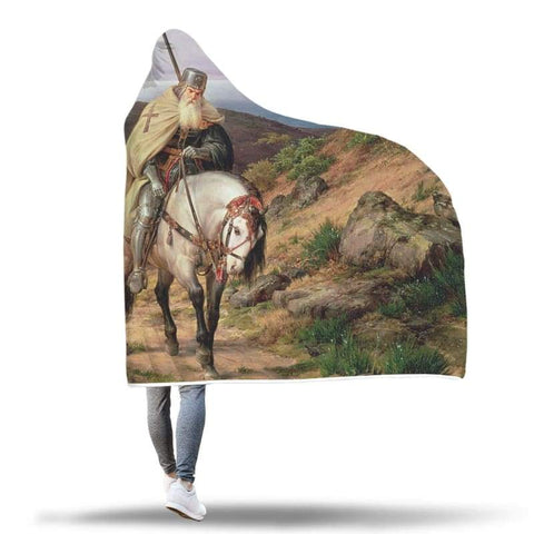 Image of Return Of The Crusader Hooded Blanket - Hooded Blanket Blankets Hooded Blankets