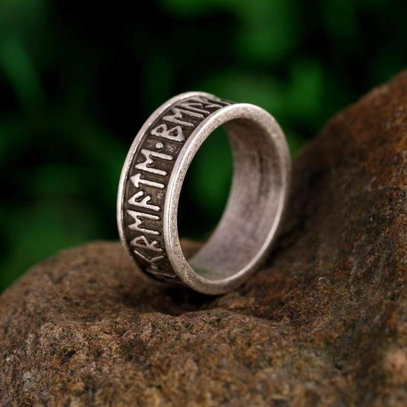 Rune Letter Signet Ring - Rings Jewelry Rings Vikings
