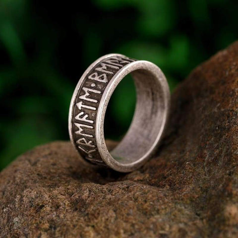 Image of Rune Letter Signet Ring - Rings Jewelry Rings Vikings