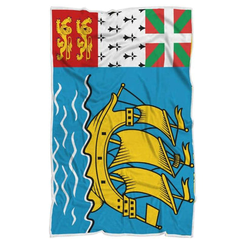 Image of Saint Pierre And Miquelon Blanket - Blanket Blankets