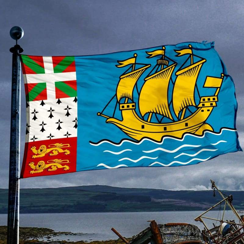 Saint Pierre And Miquelon Flag - Flags Banners & Accessories Flag Flags