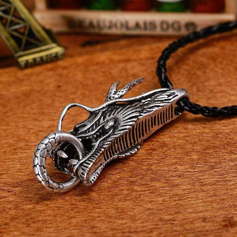 Silver Dragon - Jewelry Necklace Samurai