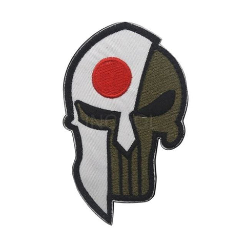 Image of Skull Spartan National Flag Tactical Patches - Japan - Patches Patches