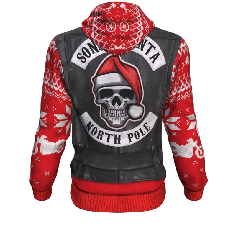 Sons Of Santa Ugly Xmas Hoodie - Hoodie Christmas Hoodies