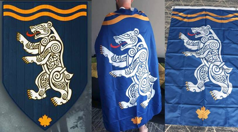 Spirit Bear Company Flag - Flags Knights Spirit Bear Company Vikings