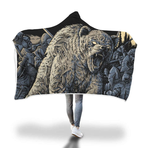 Image of Spirit Bear Company Hooded Blanket - Hooded Blanket Blankets Hooded Blankets Spirit Bear Company