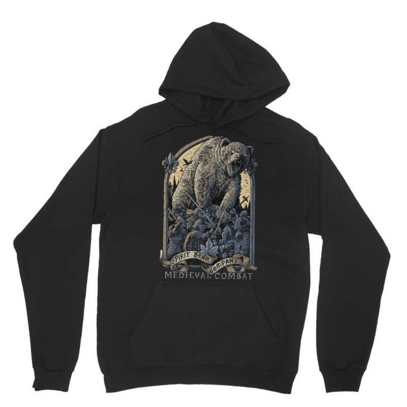 Spirit Bear Company - Medieval Combat Classic Adult Hoodie - Black / Xs - Apparel Apparel Spiritbear