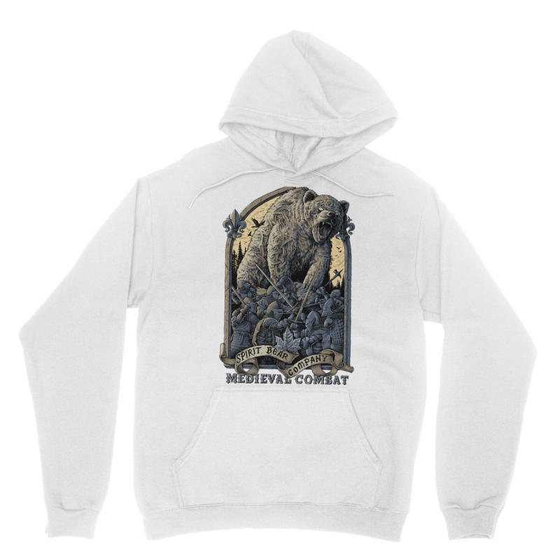 Spirit Bear Company - Medieval Combat Classic Adult Hoodie - White / Xs - Apparel Apparel Spiritbear