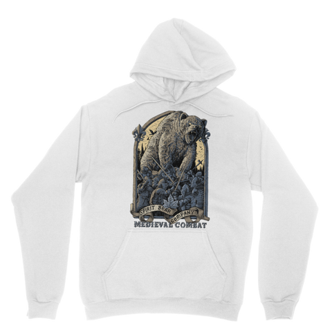 Image of Spirit Bear Company - Medieval Combat Classic Adult Hoodie - White / Xs - Apparel Apparel Spiritbear