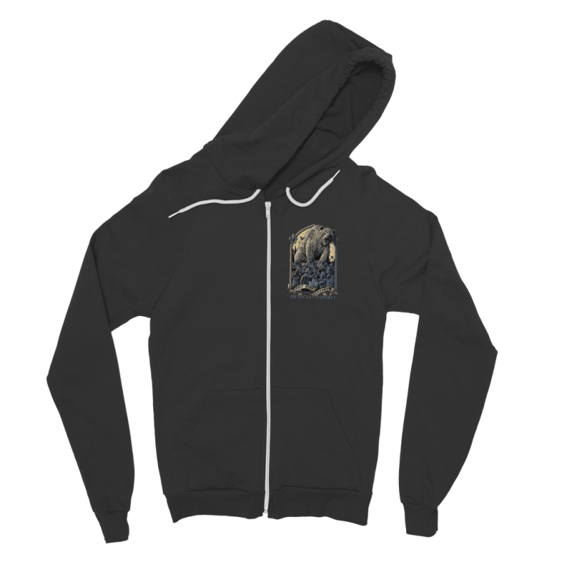 Spirit Bear Company - Medieval Combat Classic Adult Zip Hoodie - Black / S - Apparel Apparel Spiritbear