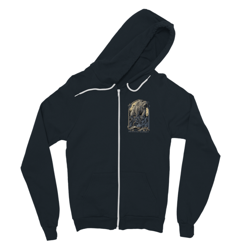 Spirit Bear Company - Medieval Combat Classic Adult Zip Hoodie - Navy / S - Apparel Apparel Spiritbear
