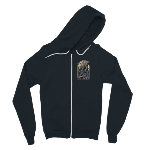 Image of Spirit Bear Company - Medieval Combat Classic Adult Zip Hoodie - Navy / S - Apparel Apparel Spiritbear