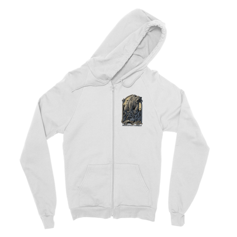 Spirit Bear Company - Medieval Combat Classic Adult Zip Hoodie - White / S - Apparel Apparel Spiritbear