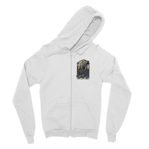 Image of Spirit Bear Company - Medieval Combat Classic Adult Zip Hoodie - White / S - Apparel Apparel Spiritbear