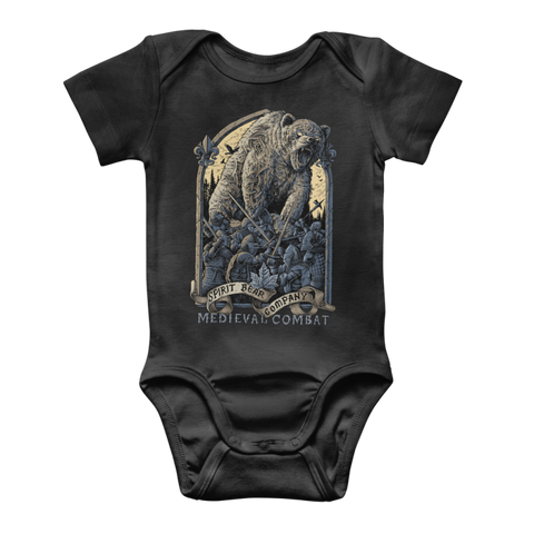 Image of Spirit Bear Company - Medieval Combat Classic Baby Onesie Bodysuit - Black / To 3 Months - Apparel Apparel