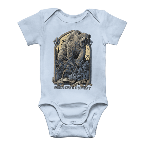 Image of Spirit Bear Company - Medieval Combat Classic Baby Onesie Bodysuit - Light Blue / To 3 Months - Apparel Apparel