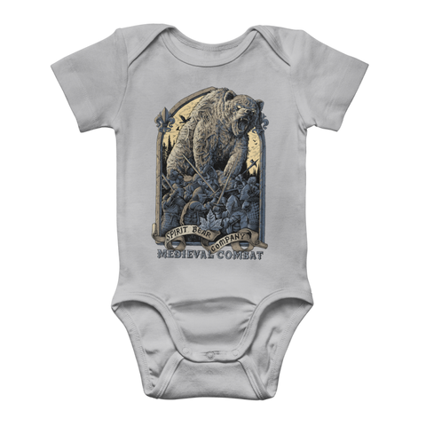 Image of Spirit Bear Company - Medieval Combat Classic Baby Onesie Bodysuit - Light Grey / To 3 Months - Apparel Apparel