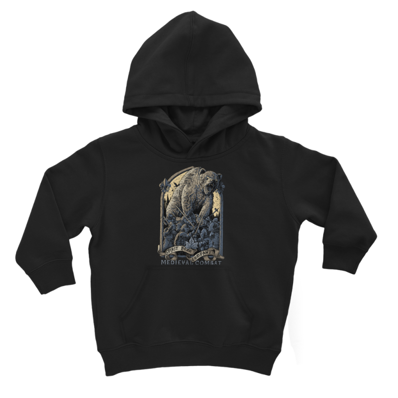 Spirit Bear Company - Medieval Combat Classic Kids Hoodie - Jet Black / 3 To 4 Years - Apparel Apparel Spiritbear