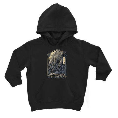Image of Spirit Bear Company - Medieval Combat Classic Kids Hoodie - Jet Black / 3 To 4 Years - Apparel Apparel Spiritbear