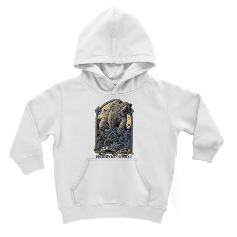 Image of Spirit Bear Company - Medieval Combat Classic Kids Hoodie - White / 3 To 4 Years - Apparel Apparel Spiritbear