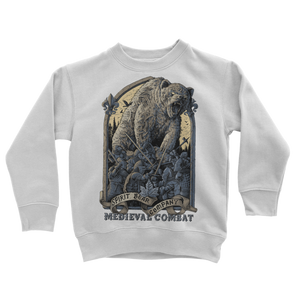 Spirit Bear Company - Medieval Combat Classic Kids Sweatshirt - Arctic White / 3 To 4 Years - Apparel Apparel Spiritbear