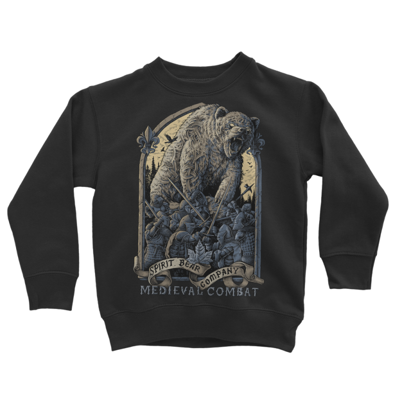 Spirit Bear Company - Medieval Combat Classic Kids Sweatshirt - Jet Black / 3 To 4 Years - Apparel Apparel Spiritbear