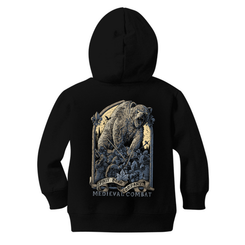 Image of Spirit Bear Company - Medieval Combat Classic Kids Zip Hoodie - Apparel Apparel Spiritbear
