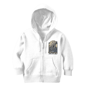 Spirit Bear Company - Medieval Combat Classic Kids Zip Hoodie - Arctic White / 3 To 4 Years - Apparel Apparel Spiritbear