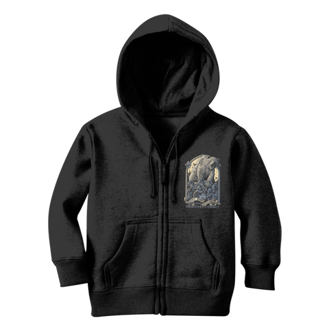 Spirit Bear Company - Medieval Combat Classic Kids Zip Hoodie - Jet Black / 3 To 4 Years - Apparel Apparel Spiritbear