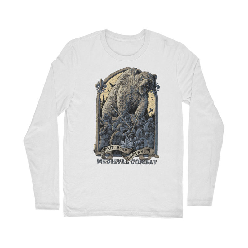 Spirit Bear Company - Medieval Combat Classic Long Sleeve T-Shirt - White / Unisex / S - Apparel Apparel Spiritbear