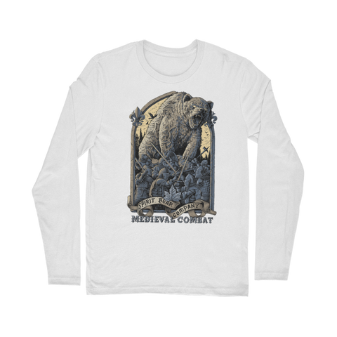 Image of Spirit Bear Company - Medieval Combat Classic Long Sleeve T-Shirt - White / Unisex / S - Apparel Apparel Spiritbear